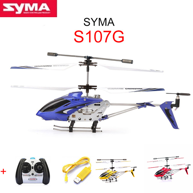 3Color SYMA S107G mini metal 3.5CH RC helicopter model toys with gyro Remote Control Helikopter original kids toys Free Shipping(China (Mainland))