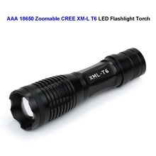 CREE XM-L T6 LED Torch 1200 Lumens Zoomable 18650 Bicycle Camp Flashlight Waterproof 3 Modes - ToLor Technology Co., Ltd store