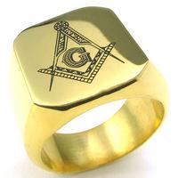 Fashion New Mason Men's Rings Jewelry Freemasonry Free Masonic Stainless Steel Finger Ring for men(China (Mainland))