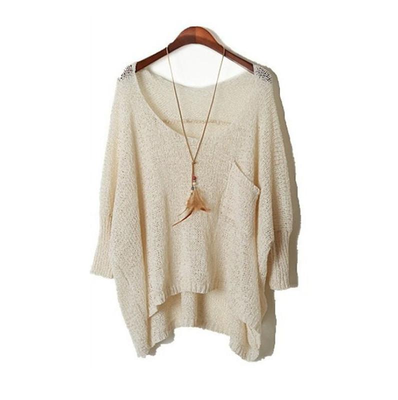 New Fall Long Baggy Sweaters Batwing Knitting Sweater Cheap Wool Sweaters Jum...