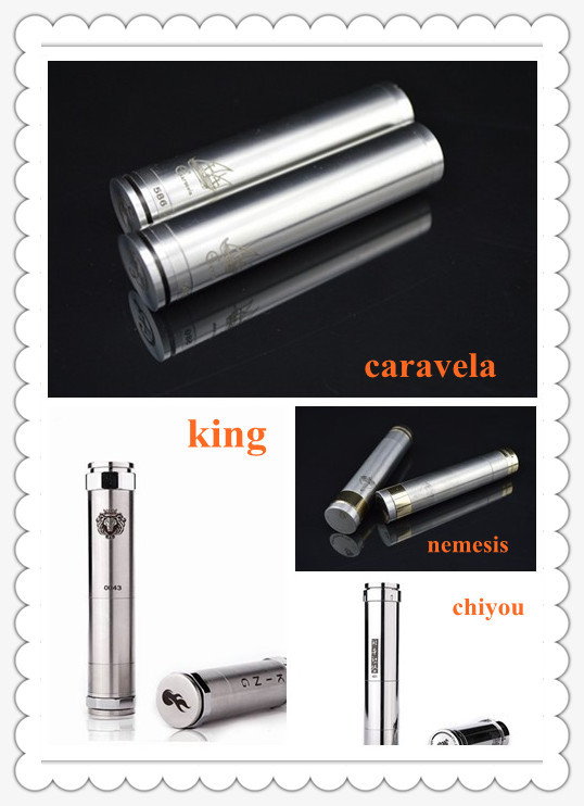 2014 chi mods king nemesis caravela mod clone stainless e cig brass chiyou ecig full mechanical cigarette sale