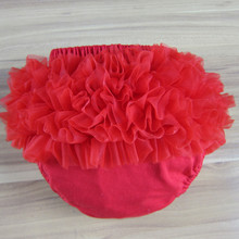 New Summer Hot Sale 9colors Selection 100% Pure Cotton Baby Girl Chiffon Ruffle Short Bloomers Diaper Cover(China (Mainland))