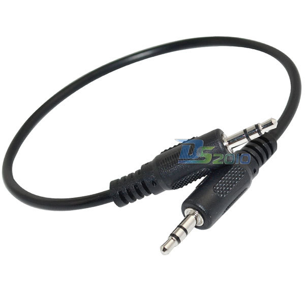 Sale!High Quality1 FT feet 30cm 1/8 3.5mm Male to Male M/M Stereo Audio Cords Cables PC iPod mp3(China (Mainland))