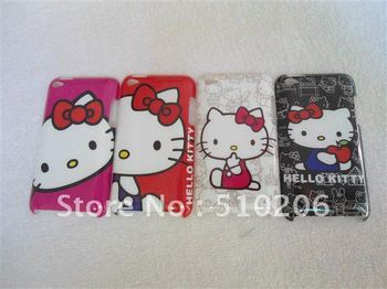 Wholesale Cartoon Hard Back Cover Case for iPod Touch 4 ,Plastic Hard Back Case For touch 4 ,50pcs/lot  DHL free shipping