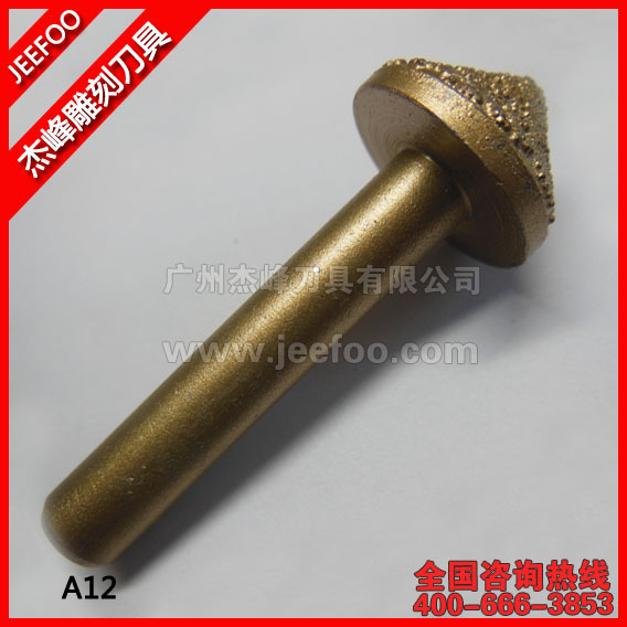 A12-Angle 20 8*22*10mm Stone Carvings Cutters /CNC Engraving Tools/ Mmelt Diamond Tools/ Stone Cutting Bits