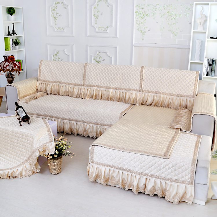 Snow Continental Luxury Sofa Cushion Slipcover Cover All