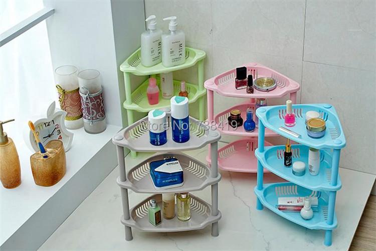 3 layers houseware Plastic bathroom kitchen basket shelf storage rack holder Floor Type cabinet towel bracket container shelves - Mother&Baby Care store