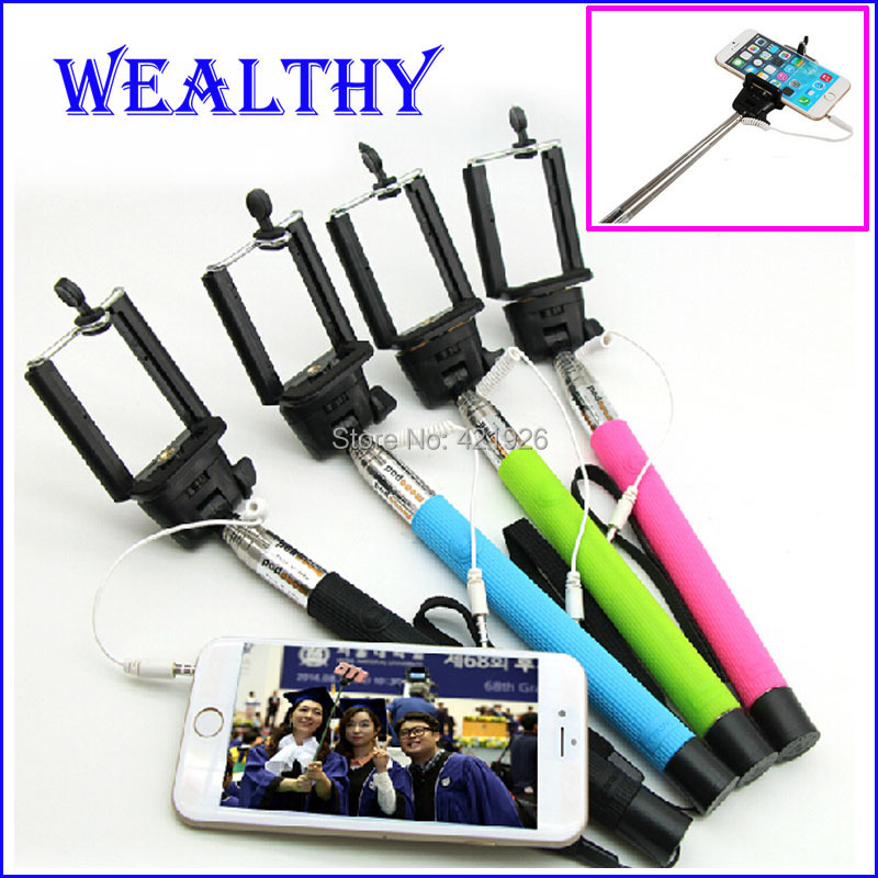 Monopod Z07-5s Grooves On Selfie Stick Mobile Phone Camera Selfie Tripod 1/4 Screw Extendable Handheld Selfie Monopod(China (Mainland))