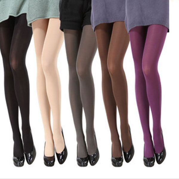 Free Shipping 9 Colors New 2015 Woman 100% Velvet Candy Color 120D Pantyhose Plus Size Multicolour Stovepipe Tights Women(China (Mainland))