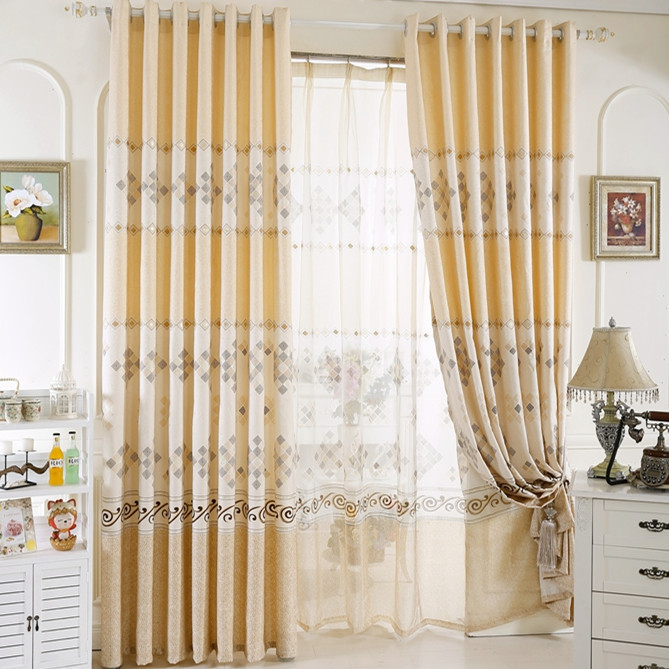 Luxury curtains for home decoration balcony modern - Modern fabrics for curtains ...