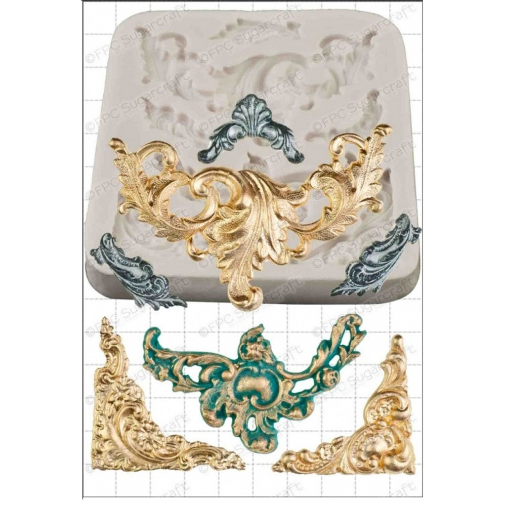 Cake Decor And More E U : Retro European Relief Baroque Scrolls Silicone Cake Mold ...