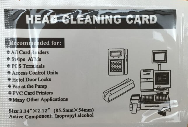 In Stock Fast Shipping - 100 pcs hotel door lock card reader ATM cleaning card atm swipe dip card readers cleaning card<br><br>Aliexpress