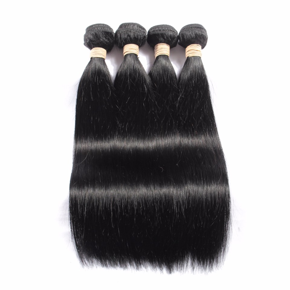 Brazilian Virgin Hair With Closure 3 Bundles Brazilian Straight Hair With Closure Human Hair With Closure Brazilian Virgin Hair