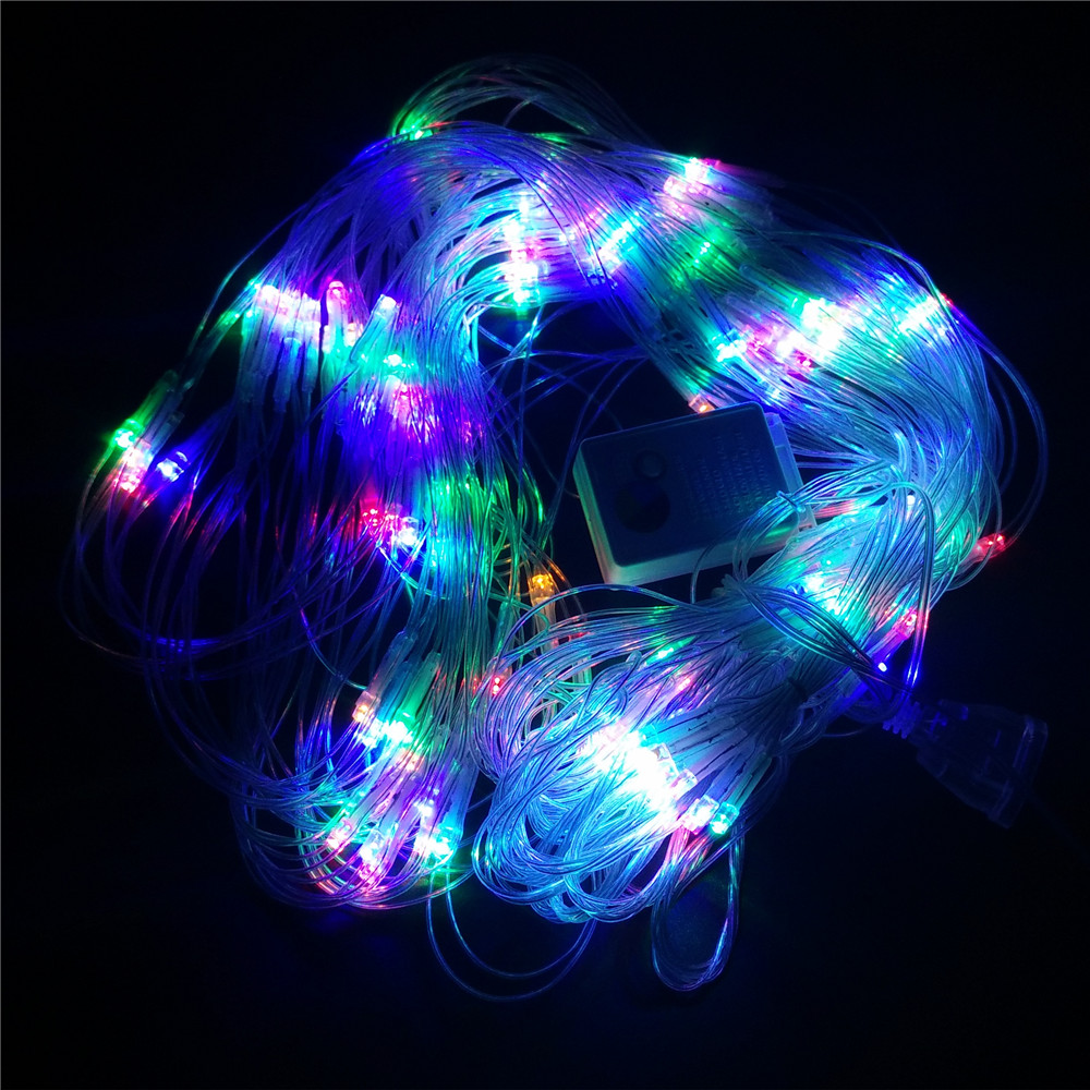 Outdoor String Lights Aliexpress : led light net star 2*2 m 144 LED outdoor string lights 220V wedding Party Christmas decorations ...