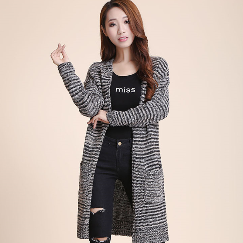 XXXXL New 2015 Women Fashion Long Casual Crochet Knit Sweater Outerwear Long Sleeve Autumn Winter Cardigan Sweater Coat Big SizeОдежда и ак�е��уары<br><br><br>Aliexpress