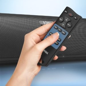 60W Bluetooth TV soundbar wireless speaker with Enhanced Bass For home theater system LED TV, PC, Smartphone, black