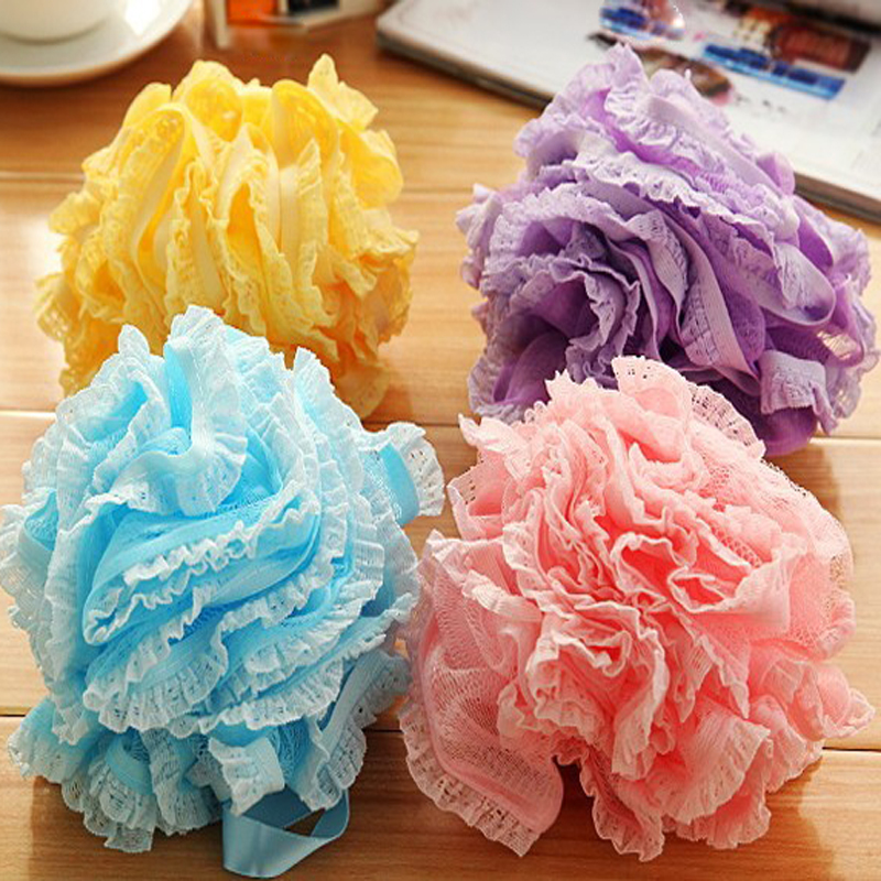 1PCS Loofah Flower Bath Ball Bath Tubs Cool Ball Bath Towel Scrubber Body Cleaning Mesh Shower Wash Sponge for Bathroom