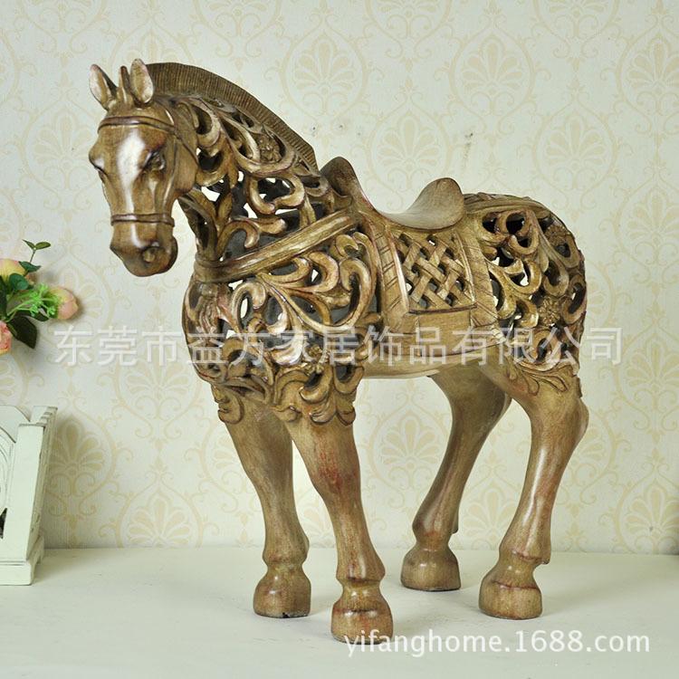 Online kopen Wholesale antieke houten paard uit China antieke houten paard Groothandel
