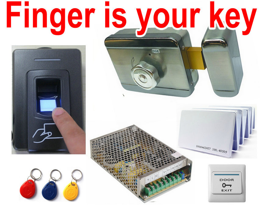 Your Fingerprint is your home key, your office key, 3000 finger Door Access Control Security System + Power + Elec Magnetic Lock(China (Mainland))