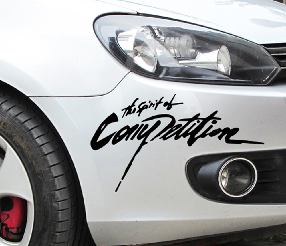 Car sticker design competition - Site 28 13cm 2016 New Arrival Car Styling Sticker The Spirition Of Competition Car Stickers Vinyl Decal Waterproof Car Accessories