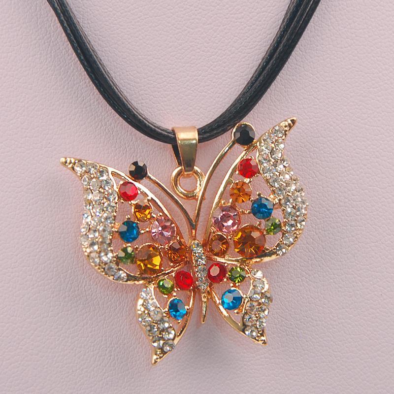 2015 Hot Fashion Lovely joker Wholesaler Butterfly Necklaces & Pendant Long Necklace Chain Choker Bib Statement Necklace(China (Mainland))