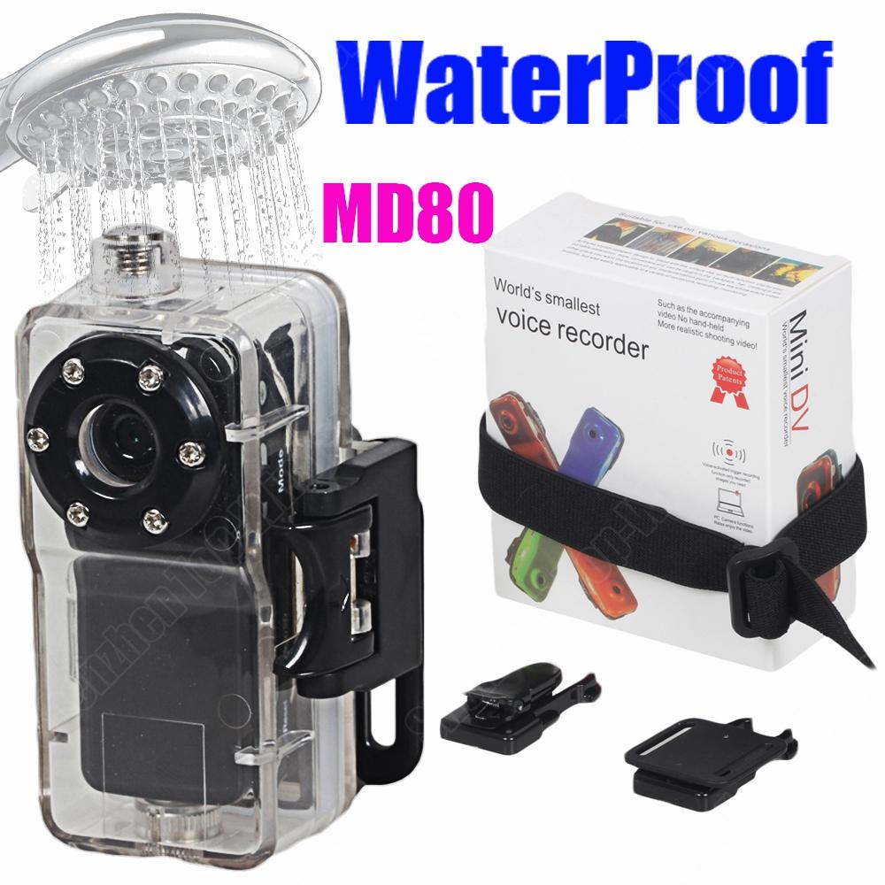 MD80+WaterProof Case Mini Camcorder Camera Sports Video Camera Hot Selling Mini DVR Camera & Mini DV Free Shipping(China (Mainland))
