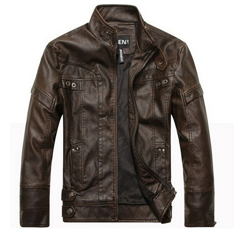 Leather Jacket Men chaqueta Jaqueta Couro Masculino Bomber Leather Jackets Coat Motorcycle Jackets jaqueta de couro masculinaОдежда и ак�е��уары<br><br><br>Aliexpress
