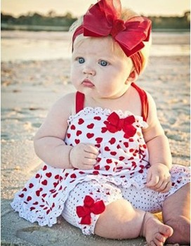 QZ-263,Free Shipping!kid clothes set cute girl red heart dot suit (jumper skirt+shorts) 2 pcs children clothing Retail