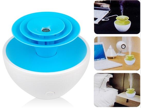 Гаджет  Mini Portable Flower USB Humidifier Ultrasonic Air Cool Mist Humidifier  None Бытовая техника