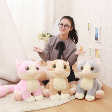 Buy 45/65cm Cute Long Tail Cat Plush Toys Animals doll stuffed plush baby pillow sleepping Cushion cat doll birthday gift kids ) for $18.99 in AliExpress store