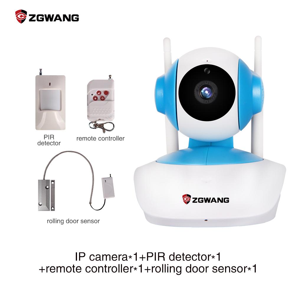 ZGWANG 720P Wireless IP Camera 4 in 1 Set WiFi 720P Network Camera Megapixels Linkage Alarm CCTV IP Camera with TF Card(China (Mainland))