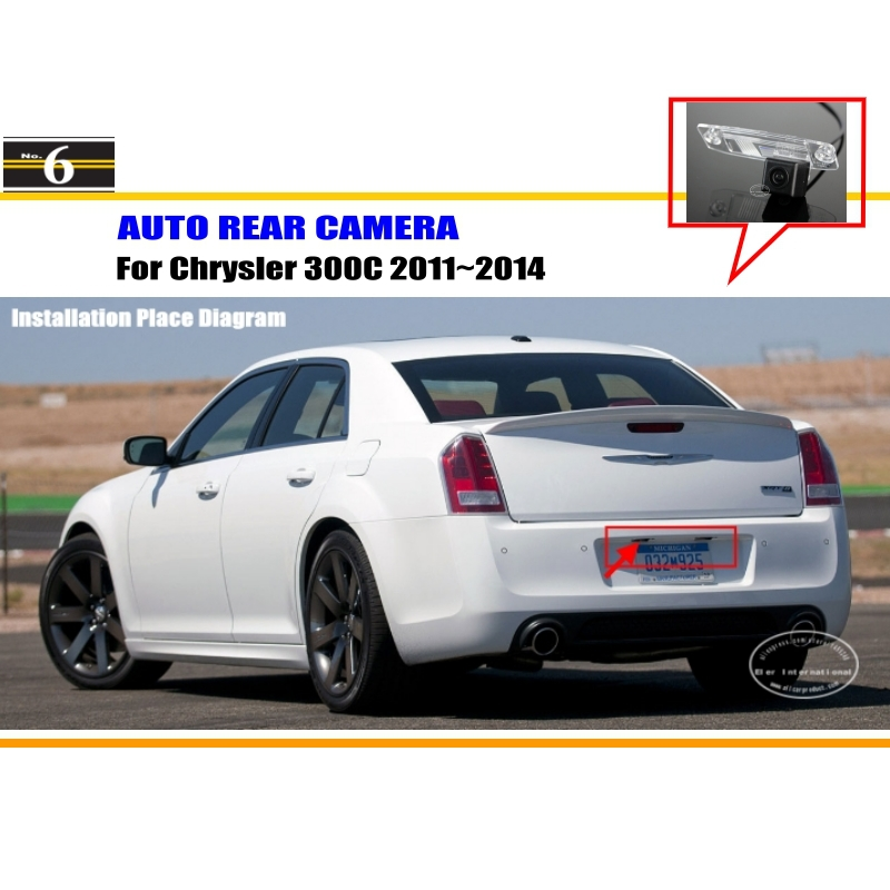 Car Rear View Camera For Chrysler 300C 2011~2014 / Reverse Camera / HD CCD RCA NTST PAL / License Plate Light OEM(China (Mainland))