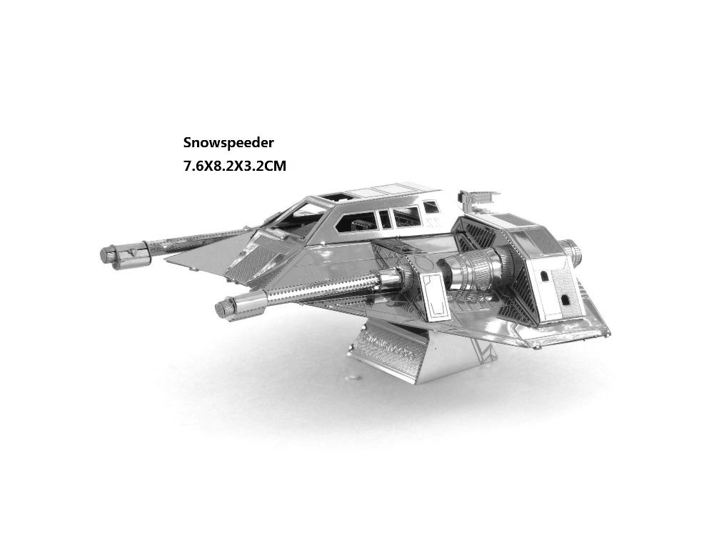 Snowspeeder STAR WARS model laser cutting 3D puzzle DIY metalic spacecraft jigsaw free shipping Star war