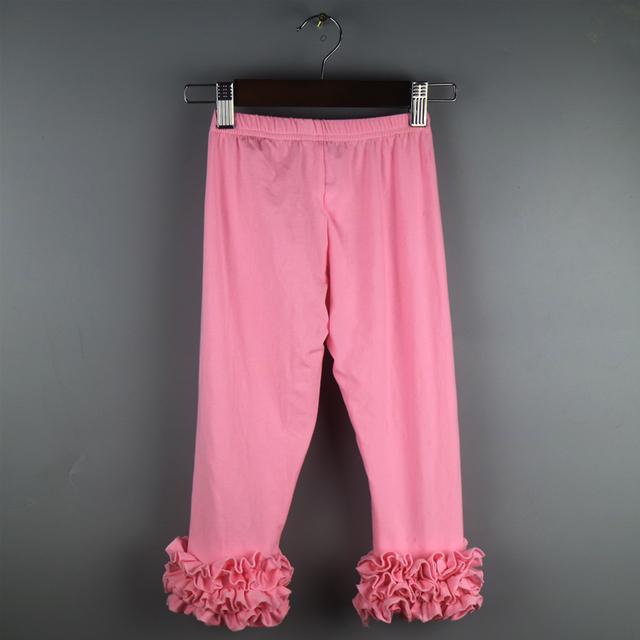 Дети леггинсы розовый обледенение оборками нижняя 3 слои леггинсы дети девушки оборками леггинсы твердых леггинсы девушки