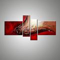 Large 4 panel Abstract wall oil painting frameless picture canvas home decoration famous modern paintings for