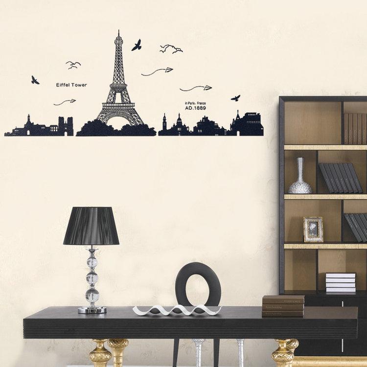 Wall Art Decals Paris : Wall Decor Paris Eiffel Tower Vinyl Sticker  Removable Wall Sticker DIY