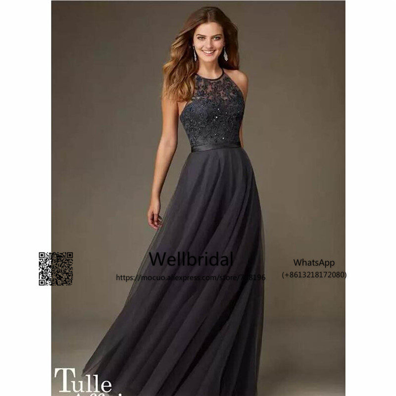 2016-new-arrival-cheap-bridesmaid-dresses-halter-neck-criss-cross-back-lace-appliques-bodice-beaded-tulle-a-line-formal-maid-of-the-honer2