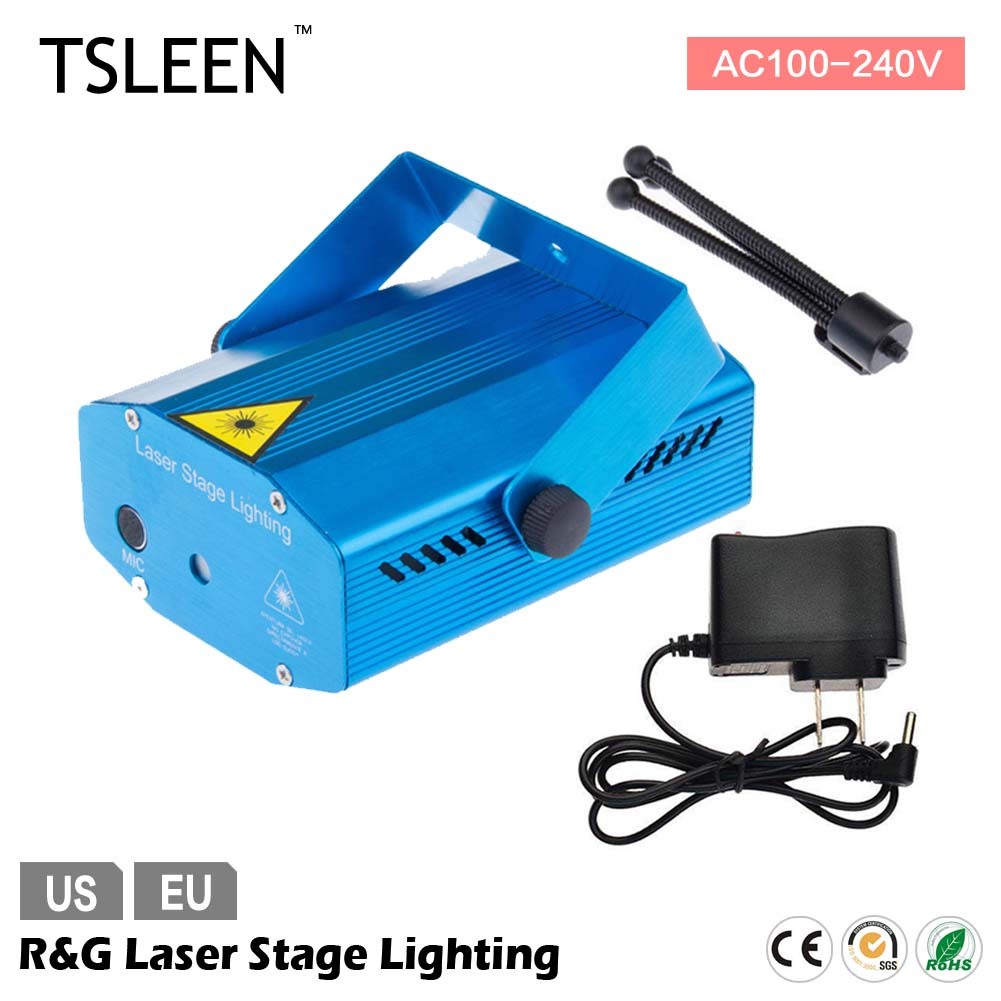 +Flash Sale+ RG Portable 110-240V Red Green Laser Meteor Projector Lights DJ KTV Home Party Dsico Xmas LED Stage Lighting(China (Mainland))