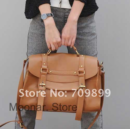 Fashion Women\'s Britpop PU Leather Purse Handbag Shoulder Messenger Satchel Bag Retro briefcase Hotsale New Wholesale B064(China (Mainland))
