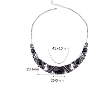 Statement Necklace 2015New Vintage Jewelry Silver Color Alloy Black Resin Bead Choker Necklace Fashion Bijoux Necklace