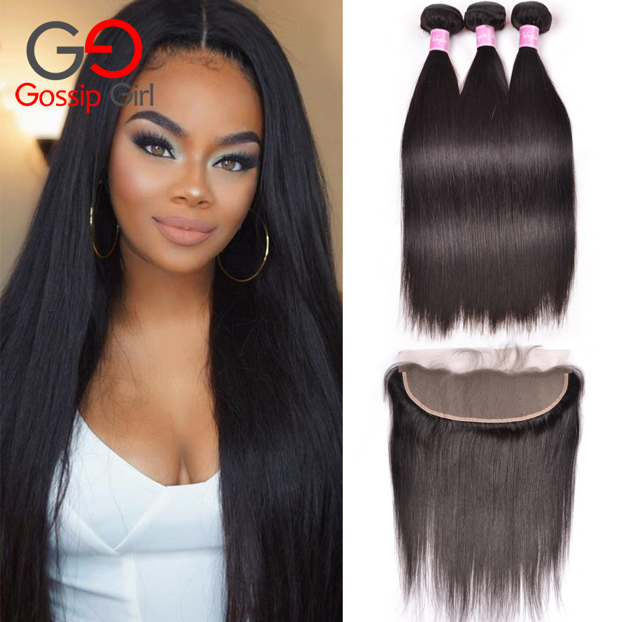 Peruvian Hair With Closure Straight Hair With Frontal Lace Frontal With Bundles Ear To Ear Lace Frontal Closure With Bundles