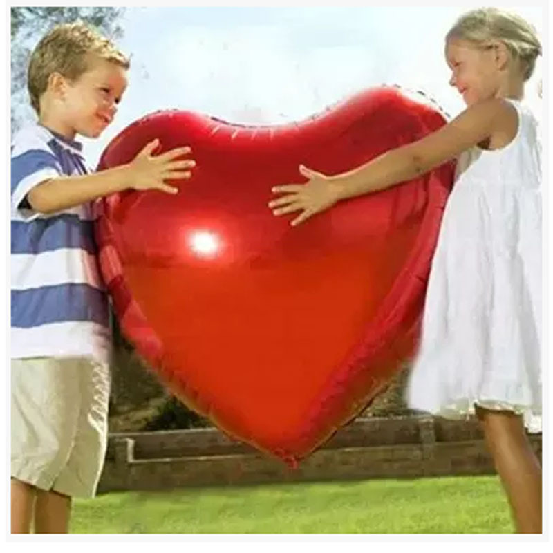 Wedding Balloon Supersize 75cm Red Heart Shap Foil Air Balloons Wedding Party Say Love Decorations Marriage Ballon Supplies(China (Mainland))