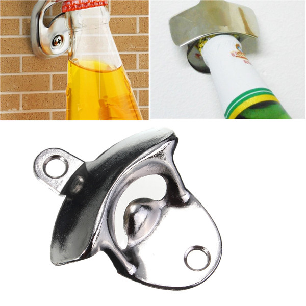 Открывалка Brand New  Stainless Steel Wall Mount Bar Beer Soda Glass Cap Bottle Opener купить