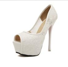 2015 Fashion Fetish High Heels Stiletto Elegant Sandals Peep Toe Lace Up Pumps Women Platform Shoes Discount