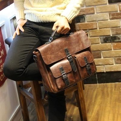 Новый 2016 Ретро человек сумка сумка Случайный большой емкости плече сумка Портфель ...