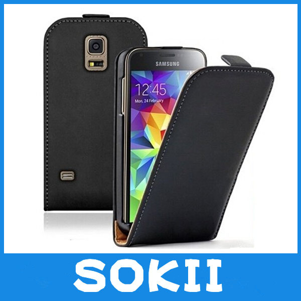 For Samsung SM-G800F G800 G800H Galaxy S5 mini Flip Leather Case Magnetic Cover+2x Screen Protector,(China (Mainland))