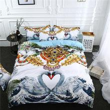 3Pcs/Set landscape Printed Duvet Cover Set 3D Bedding Sets Queen King Twin Size(China)