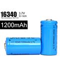 200pcs Hot 1200mah 3 7v Battery Li Ion Rechargeable 16340 Batteries Charging 500 Times For Headlamp
