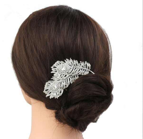 2016 new wedding bridesmaid Fangzuan fall flower ribbon hair jewelry comb the crown jewels for the bride(China (Mainland))