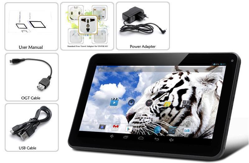 Original 10 Inch Android Tablets PC 2GB RAM 16GB 32GB ROM WIFI Bluetooth 2GB 16GB 32GB 1024*600 lcd 10 tab pc Quad Core A33